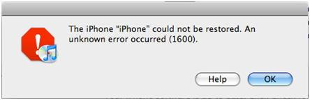 iPhone Error 1600 image photo picture